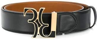 Billionaire monogram buckle belt