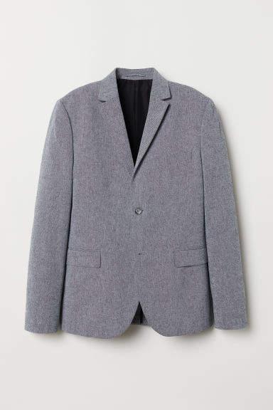 H&M - Cotton Blazer Slim fit - Gray