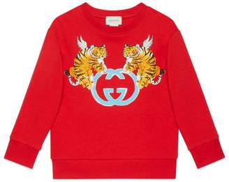 Gucci Children's sweatshirt with winged tigers
