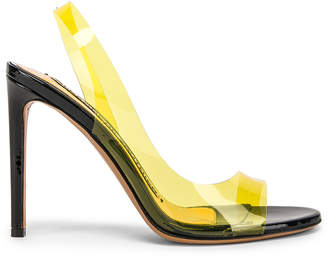 Alexandre Vauthier Amber Ghost Sandal in Yellow | FWRD