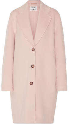 Acne Studios - Landi Oversized Wool And Cashmere-blend Coat - Pastel pink $1,150 thestylecure.com