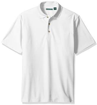 Cubavera Men's Short Sleeve Herringbone Performance Polo Shirt
