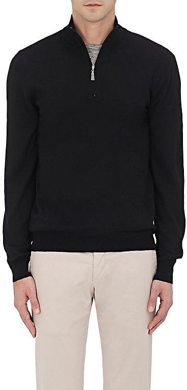 Barneys New YorkBarneys New York Men's Wool Half-Zip Sweater