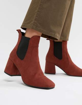 New Look Heeled Square Toe Ankle Boot