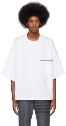 Thom Browne White Oversized Pocket T-Shirt