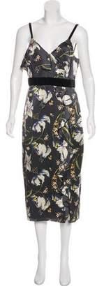 Cinq à Sept Floral Midi Dress w/ Tags
