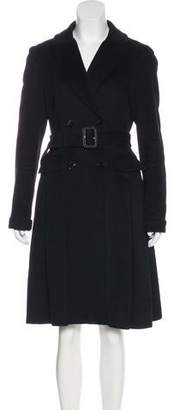 Burberry Wool & Cashmere Belted Coat