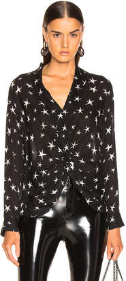 L'Agence Mariposa Blouse in Black & Ivory | FWRD