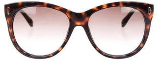 Jimmy Choo Tortoiseshell Oval Sunglasses