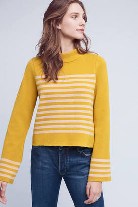 Moth Structured Stripe Top $98 thestylecure.com