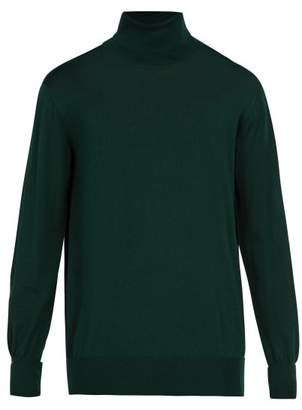 Thom Sweeney - Wool Roll Neck Sweater - Mens - Green