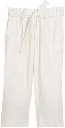 Milly Minis Kori Linen-Stretch Crepe Pant, Size 8-14
