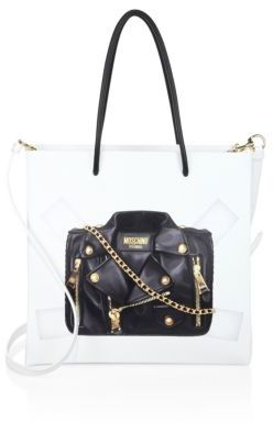MoschinoMoschino Paper Doll Cutout Leather Tote