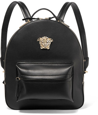 Versace - Palazzo Medium Leather Backpack - Black $1,995 thestylecure.com