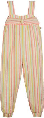 Billieblush Striped Sleeveless Jumpsuit w/ Bow Detail, Size 4-12