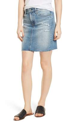 AG Jeans The Erin Distressed Denim Miniskirt (Indigo Deluge Destructed)