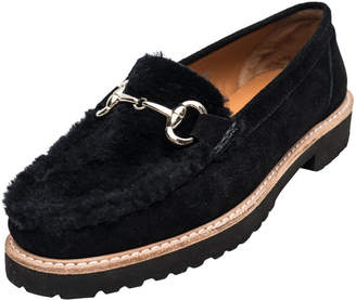 Andre Assous Black Shearling Loafer