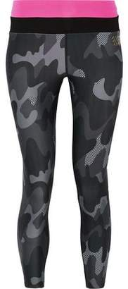 Monreal London Cropped Camouflage-Print Stretch Leggings
