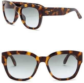 Toms Audrina 51mm Oversized Sunglasses