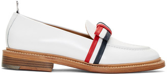 Thom Browne White Bow Loafers $990 thestylecure.com