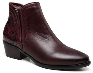 Vicenzo Leather Nelly Stacked Block Heel Leather Boot