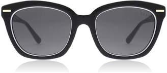 DKNY DY4142 Sunglasses Black White 372087 53mm