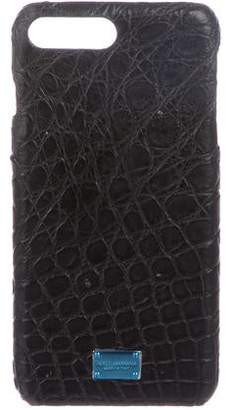 Dolce & Gabbana Embossed Leather iPhone Case