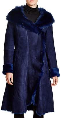 Maximilian Hooded Shearling Coat with Toscana Collar $3,995 thestylecure.com