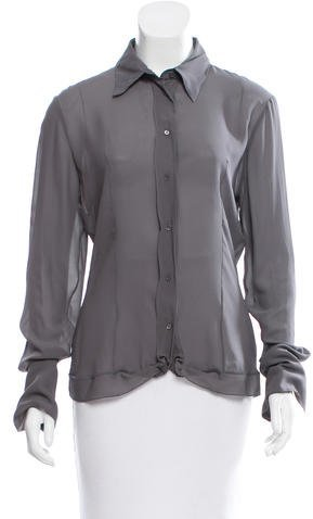 Christian Dior Sheer Silk Blouse