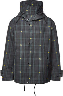 Equestrian Knight Check Hooded Jacket
