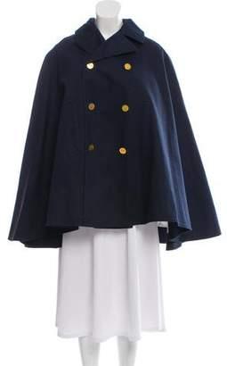 Black Fleece Double-Breasted Cape Coat