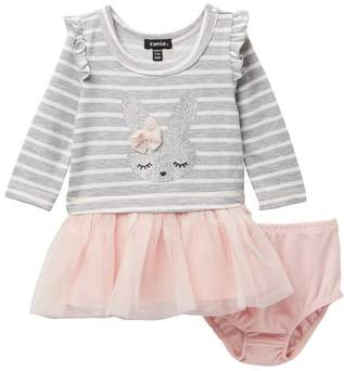 Zunie Drop Waist Tulle Dress (Baby Girls)