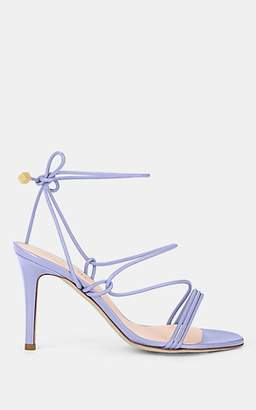 Barneys New York Women's Arese Leather Ankle-Tie Sandals - Lilac