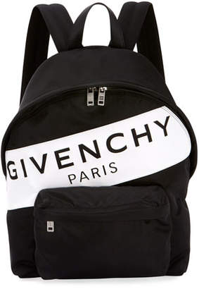 33f7a9438bcf20 Givenchy Men's Urban Logo Nylon Zip-Around Backpack