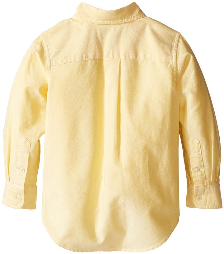 Polo Ralph Lauren Kids - Solid Oxford Shirt Boy's Long Sleeve Button Up 5