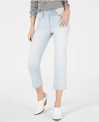 Hudson Jeans Wake Up Straight-Leg Cropped Jeans