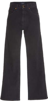 Khaite Vivian Cropped Flared Jeans