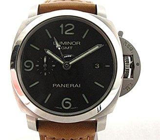 Panerai [パネライ ルミノールGMT 腕時計 ウォッチ ブラック レザーベルトxラバーベルト PAM00320 [中古]