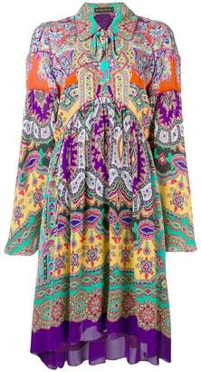 Etro paisley loose-fit dress
