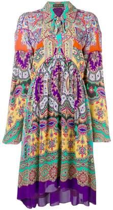 Etro paisley loose-fit dress