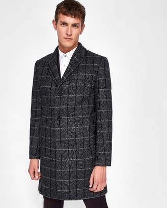 Ted Baker ANDO Checked wool overcoat