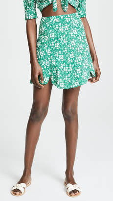 For Love & Lemons Zamira Floral Miniskirt