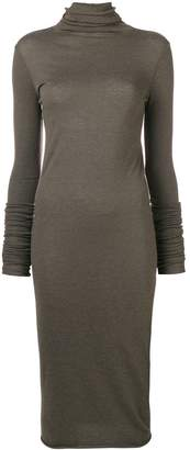 Rick Owens Lilies fitted turtleneck dress