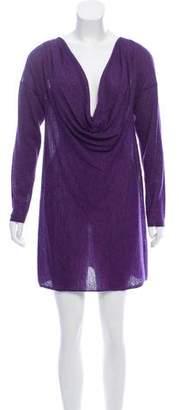 Eileen Fisher Cowl Neck Alpaca Dress