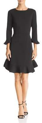 Nanette Lepore nanette Flounced Crepe Dress