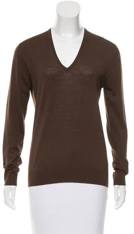 prada Prada V-Neck Knit Sweater