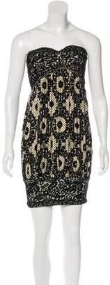 Diane von Furstenberg Velvet Sweetheart Mini Dress
