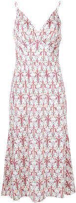 Prada printed midi slip dress