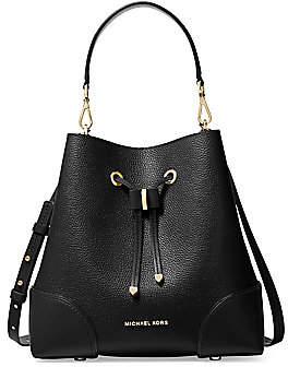 MICHAEL Michael Kors Women's Mercer Gallery Leather Bucket Shoulder Bag