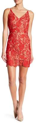 Minuet Floral Lace Mini Dress
